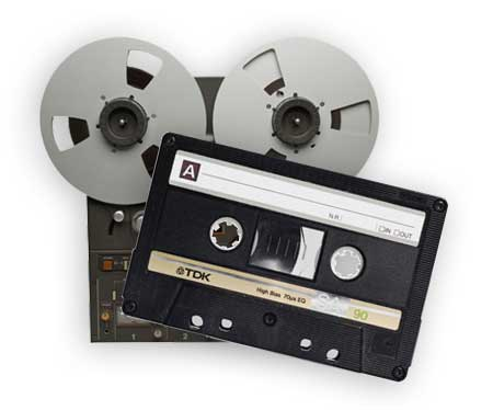 Audio tapes to CD
